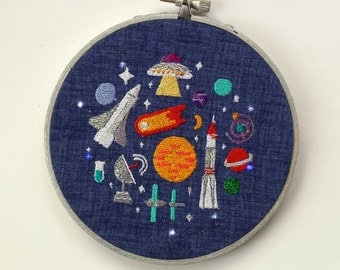 LED Light Up Embroidery Outer Space Jumble Junk