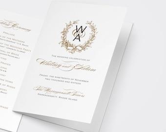 catholic wedding mass booklet template - catholic wedding programs etsy