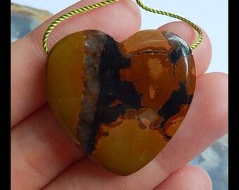 Turquoise Gemstone  Heart Pendant Bead,29x7mm,9.44g(c0435)