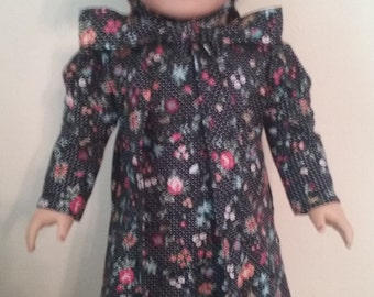 american girl 18 inch doll Prairie dress, bonnet,and shoes
