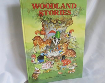 1975 Woodland Stories Childrens Book by Rene Cloke