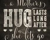 Customized Printable Sign - A Mother's Hug 5x7