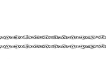Chain, Rope, Sterling Silver, 1.2mm - 20 ft Wholesale Price (11583-20)/1