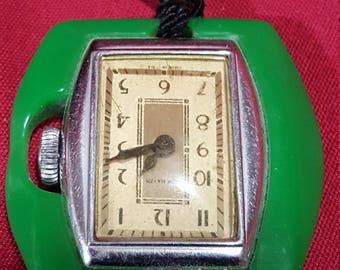 Vintage New Haven Pendent Bakelite Watch Not Working