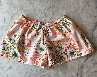 Womens Pajamas.  Womens Boxer Shorts.  Womens Pajama Pants.  Bridesmaid Pajama Sets. Pajama Set. Bridal Set.  Custom. Choose your fabric.
