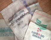 Vintage Mystery Imported Large Hessian Coffee Bean Sack Bag Carrier Old - Multiples Available - SOLD INDIVIDUALLY c1960-80's / English Shop