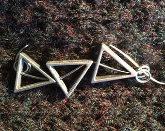Contemporary lightweight silver Shawl Pin, Scarf Pin, Sweater Pin, Shrug Closure