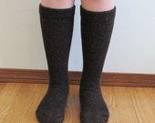 Alpaca wool socks - Everyday Style - Super cozy warm and soft socks Size Medium Dark Brown color