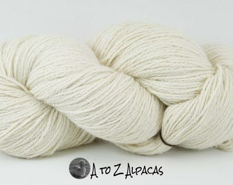 Royal Baby Natural Alpaca Yarn Worsted Weight Natural White