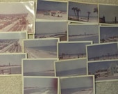 Lot of 17 Vintage Color Photographs from Daytona Beach, Florida, circa 1964, Ocean Ave, Fishing Pier