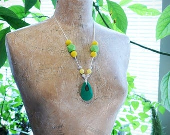 Silicone Teething Necklace - Lime Margarita