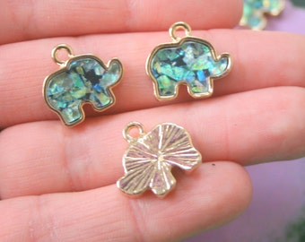The GOLDEN ELEPHANT Charms....antique silver charm. kooky. retro. kitsch. boho. metal. urban. hipster. hippie. indie. novelty. wholesale