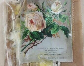 Vintage Blank Bag Booklet,  White Rose