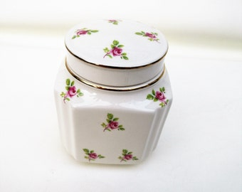 Vintage Ginger Jar | Vanity Jar | Windsor English China | Powder Box | Bathroom Storage
