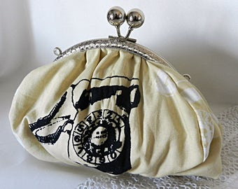 Cloth bag or pouch, vintage phone