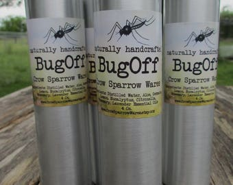 Bug Off Natural Insect Mosquito Repellant Essential Oils Aloe