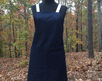 Indigo Blue Denim Apron
