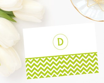 Chevron Initial Note Cards