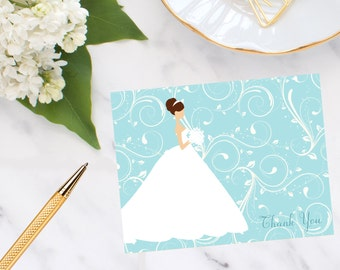 Personalized, stationery, Bride Thank You Notes