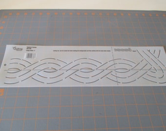 Vintage Vinyl Quilting Stencil-Template - Tulips OR Twists Designs