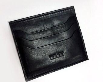 Credit Card Holder - Black Genuine Leather
