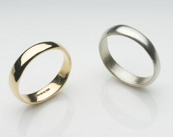 Organic Shape 18 ct gold wedding band - unisex gold wedding ring - commitment wedding promise ring - Emma wedding ring - Free Shipping
