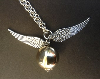 Gold Wings Cosplay Necklace