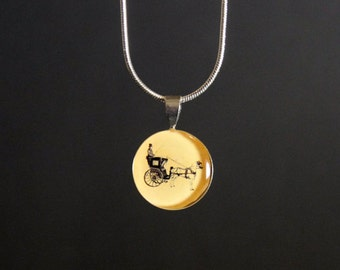 Horse and Carriage Pendant - Sml