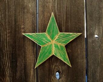 "8"" Rustic wood star #513"