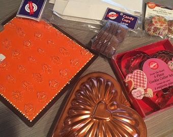 Baking and Candy Supplies Valentine Copper Heart  Mold