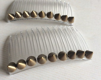 Gold Spike French Combs Set