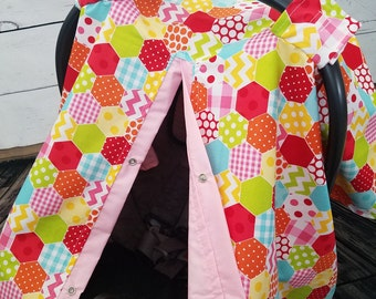 Carseat Canopy Girl Geometric Last One READY TO SHIP