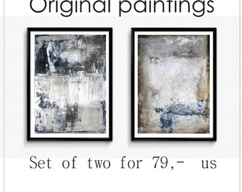 abstract Painting  set of 2   wall art original nice paintings   from Jolina Anthony