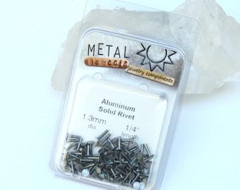 """100 1/4"""" 1.3mm Solid Aluminum Rivets"""