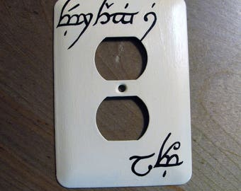 Lord of the Rings Elven Switch Plate