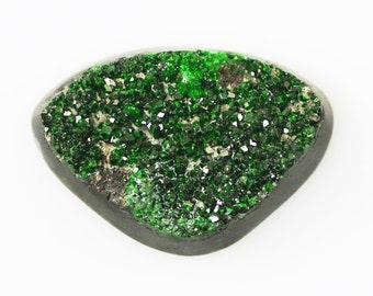 Uvarovite Green Garnet Chrome Druzy Cabochon