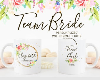 Personalized Team Bride Gift Mugs | Wedding Party Favor | Can Be Personalized with Bridal Party Names | Team Groom | MCW1