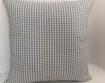 Gray White Herringbone Pillow // Cottage Pillow Cover