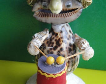 Sea Shell Seashell Musician Drummer Figurine