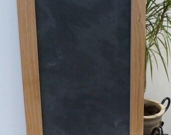 Oak framed slate board - chalk board - message board