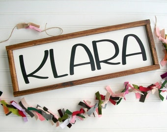 Personalized Name Sign . Baby Girl . Baby Name Sign . Nursery Name Sign . Newborn Name Sign . Personalized Baby Shower Gift . Big Girl Room