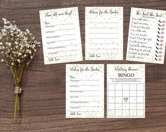 LGBT white gold foil Bridal shower games, game cards, Wedding shower game, Same Sex Wedding Marriage, LGBT, instant download, wedding games
