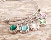 SALE Mothers Bracelet -Mother Bracelet Grandma Bracelet -Birthstone Bracelet - Adjustable Birthstone Bracelet - Stacking Bracelet - Layering