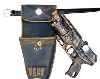 Steampunk TOY gun Nerf Elite Disruptor soft dart toy Holster-belt Cyber gothis cospla Vampire Zombie Man