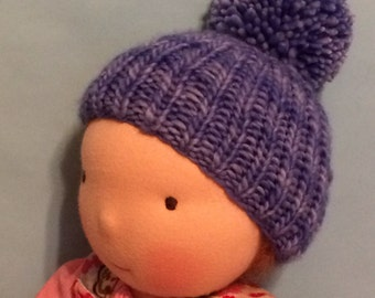 Knit Hat for 16-inch Waldorf Doll