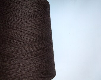 Wool Blend Yarn for machine knitting - Brown