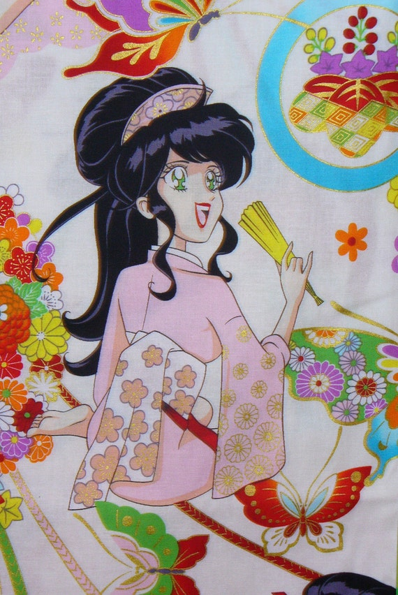 Miss Butterfly By Alexander Henry Kawaii Fabric