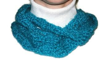Crochet Skinny Scarf,  Spring Long  Scarf  Skinny Long Scarf in Aqua  Ready to ship On Sale
