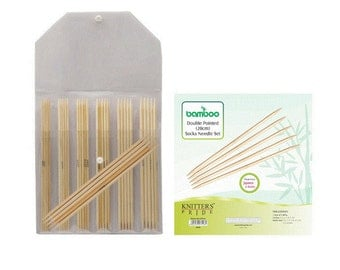 Knitters Pride Bamboo 8 inch (20 cm) Double Pointed Needle Set
