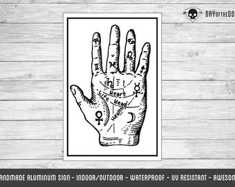 Palm Reading chart sign palmistry fortune telling occult art